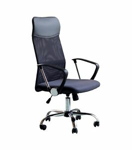 Ids Home Office Chair Mesh High Back Ergonomic Design With Arms Pu Headrest H