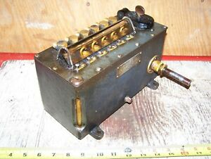 Old Detroit 6 feed Type G Steam Prairie Tractor Hit Miss Gas Engine Car Oiler