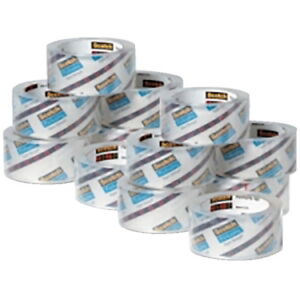 Scotch 3850 Heavy Duty Shipping Tape 1 88 Inches X 54 6 Yards Clear 36 Rolls