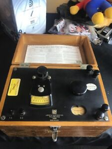 Vintage Navy L n Leeds Northrup Laboratory Portable Potentiometer W wood Case