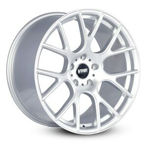 Vmr V810 18x8 5 5x112 45 Hyper Silver Flow Formed Wheels set Of 4