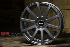 Vmr V702 18x8 5 5x112 Et45 Matte Gunmetal Wheels Fit Vw Golf 2010