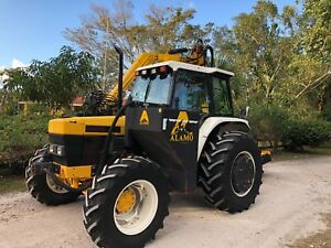 1997 New Holland 6640 Tractor With Ditch Bank Mower