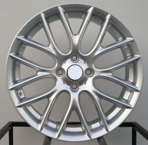 Jcw Style 17x7 4x100 42 Hyper Silver Wheels Set Of 4 Fit Mini Cooper Coupe