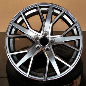 Audi S Line Style 19x8 5 5x112 Et35 Gunmetal Machined Face Wheels Set Of 4 Rims