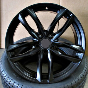 Audi S Line Rs6 Style 19x8 5 5x112 Et35 Satin Black Wheels Set Of 4 Rims