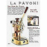 La Pavoni Model Pb 16 Copper brass Item Pb 16