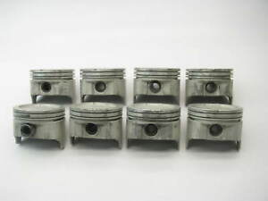 8 New Out Of Box Tc 1852 Engine Pistons Std Fits 1970 1980 Chevrolet 400