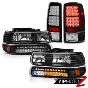 For 00 06 Chevy Tahoe Suburban 5 3l Smd Bumper Headlights Led Bulbs Tail Light
