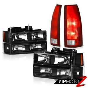 1994 1998 Silverado 3500 Wine Red Tail Lights Parking Lamps Bumper Headlamps