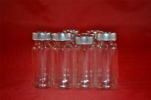 100 X 10ml Clear Glass Vials With Stopper Aluminum Seals 100 New Empty
