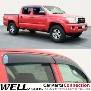 Wellvisors Window Deflector Toyota Tacoma 2005 2015 Double Cab Visors Clip On