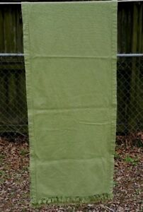 Vintage Olive Green Table Runner 80 X18 Free Shipping