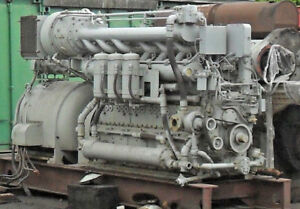 White Superior Dual Fuel 6cyl In Line Engine Natural Gas Diesel Model 40gdsx