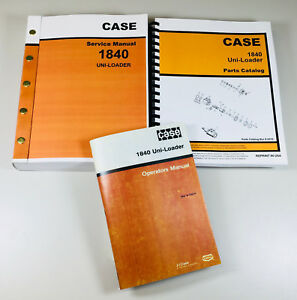 Case 1840 Uni loader Skid Steer Service Parts Operator Manual Shop Book Overhaul