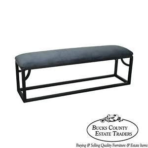 Custom Black Painted Long Bench A