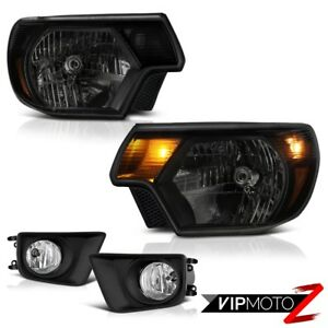 2012 2015 Toyota Tacoma Offroad Euro Chrome Fog Lights Sinister Black Headlights