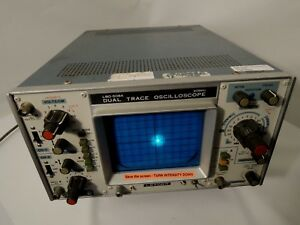 Leader Lbo 508 Dual Trace Oscilloscope With Scope Cover Excellent Cond