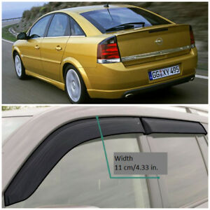 Wide Window Visors Side Sun Guard Vent Deflectors For Opel Vectra C Hb 2002 2008