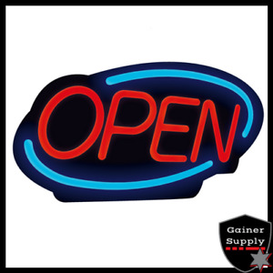 Open Sign Business Entry Led Light Store Shop Restaurant Oval Neon Display Flash