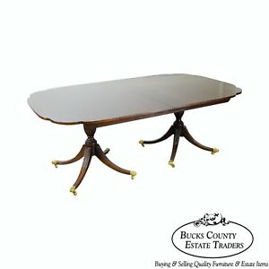 Kindel Winterthur Collection Mahogany Duncan Phyfe Style Dining Table