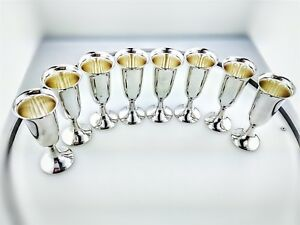 Vintage Set Of 8 Sterling Silver Cartier Cordial Cups 229 6 Grams
