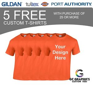 25 Custom T shirt Screen Printing Get 5 More Free
