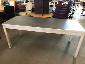 Vintage old Style Tank Table desk By Art Metal