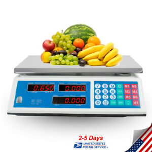 66lb Digital Weight Scale Price Computing Food Meat Scale Produce Deli Kitchen