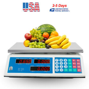 30kg Digital Price Computing Scale Food Produce Meat Deli Kitchen 66lb Kitchen