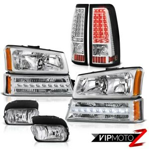 2003 2006 Chevy Silverado Chrome Fog Lamps Taillights Signal Light Headlights