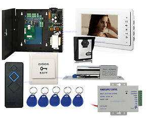 Single Door Access Control Board System Kits Video Door Phone Intercom Bolt Lock