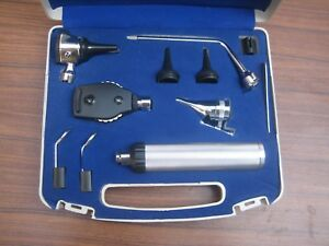 Ent Otoscope Ophthalmoscope Opthalmoscope Nasal Larynx Diagnostic Set dhl Ship
