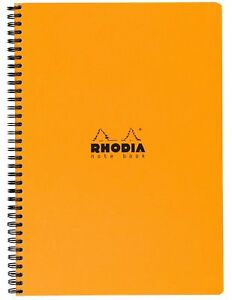 Rhodia Wirebound Book 9x11 75 Org Lined Wm Orange New
