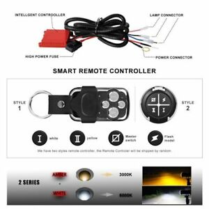 Dual Color Led Light Bar Remote Wiring Harness Switch Freely Autofeel Wiring Kit