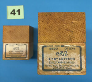 Young Brothers Gruvgrip Steel Stamps Reversed 1 16 Letter Number Hand Stamps