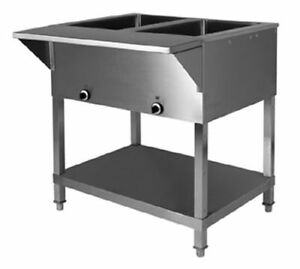 Klinger s All Stainless Steel 2 Well Electric Steam Table Wet dry Kti Sw 2h 120