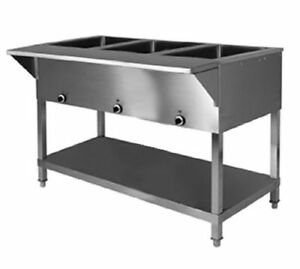 Klinger s All Stainless Steel 3 Well Electric Steam Table Wet dry Kti Sw 3h 120