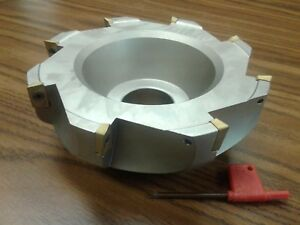 6 90 Degree Indexable Face Shell Mill face Milling Cutter Apkt z 2526 6080