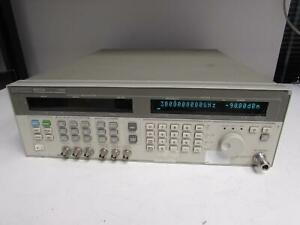 Agilent Hp 83731a Synthesized Signal Generator 20ghz Opt 102 1e1 1e5