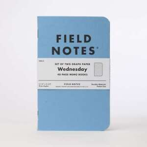 Field Notes Brand Wednesday Fnw 01 Sealed 2 pack Blue Memo Book Notebooks