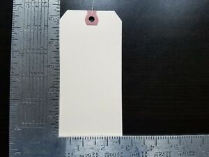 500 2 5 8 X 5 1 4 Wired Manila Tag Hang Label Shipping Inventory Stock Size 6