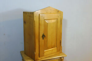 Beautiful Antique Wall Cabinet Cupboard Hanging Cabinet In Pine Wood Biedermeier