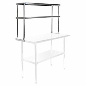 Gridmann Nsf Stainless Steel Commercial Kitchen Prep Work Table 2 Tier Doub