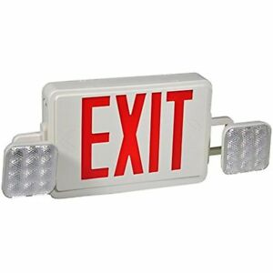Ul Lighted Exit Signs Listed Red Letter Emergency Light single double Face Led