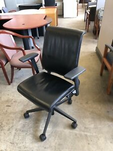 Executive Chair By Steelcase Think In Black Leather