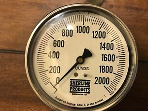 Sherline Hydraulic Suspended Scale Lm2 2000 New 0 2000 Lb Made In Usa