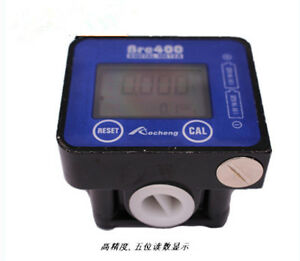 New Lcd 5 digital Oil Fuel Oval 1 2 Gear Flow Meter Diesel Gasoline Kerosene
