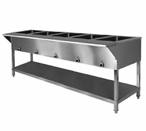Klinger s All Stainless Steel 5 Well Electric Steam Table Wet dry Kti Sw 5h 240