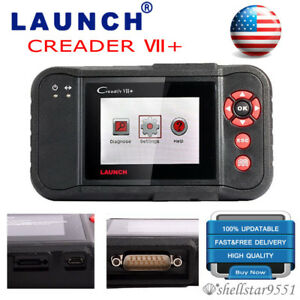Launch X431 Creader Vii Diagnostic Tool Obd2 Code Scanner Engine Abs Airbag Srs